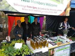 The Miranda Community Garden participated in the Shire Farmers' Market at Sutherland